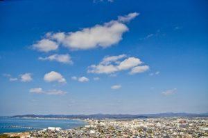 館山市街地の眺め