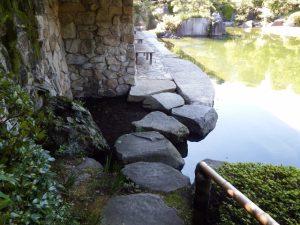 目白庭園 渡り石