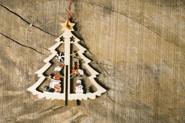 クリスマスオーナメント 飾り 木で出来た